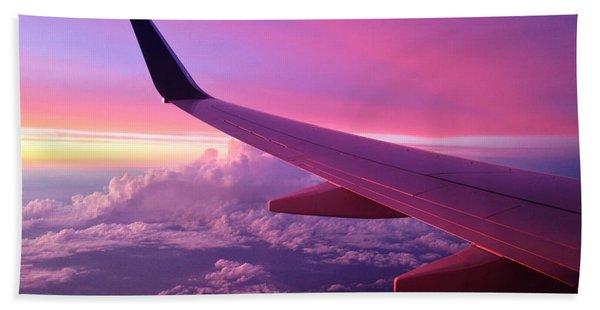 Pink Flight Bath Towel