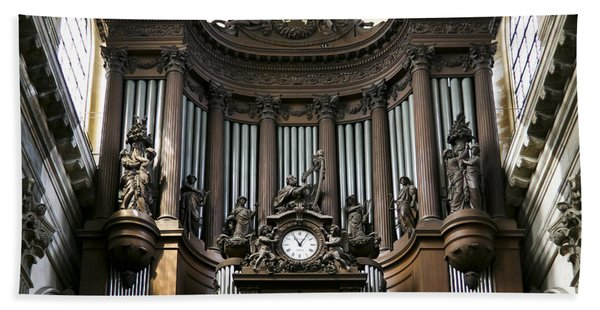 Pipe Organ In St Sulpice Hand Towel