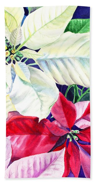 Poinsettia Christmas Collection Hand Towel