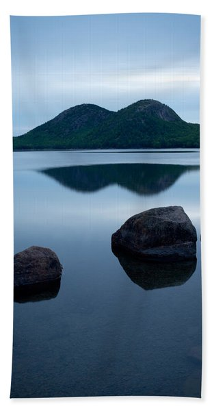 Pond At Dawn, Jordan Pond, Bubble Pond Hand Towel