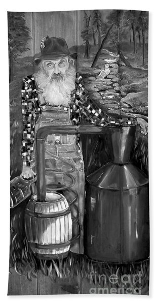 Popcorn Sutton - Black And White - Legendary Hand Towel