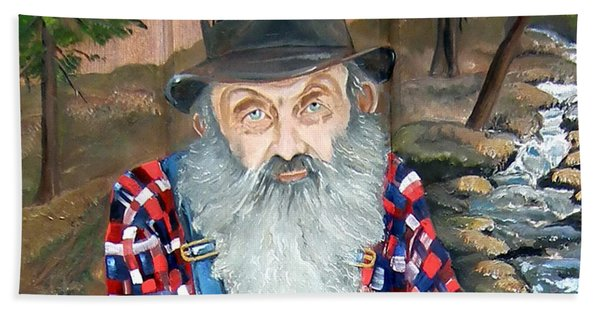 Popcorn Sutton - Moonshine Legend - Landscape View Hand Towel