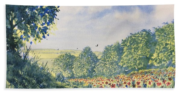 Poppies A'plenty Hand Towel
