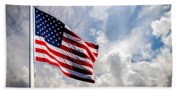 Portrait Of The United States Of America Flag Bath Towel