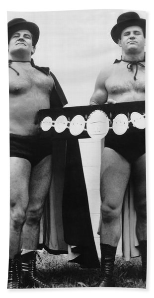 Pro Wrestlers Portrait Bath Towel