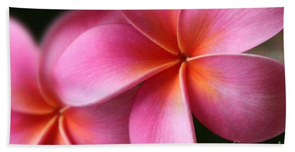 Pua Lei Aloha Cherished Blossom Pink Tropical Plumeria Hina Ma Lai Lena O Hawaii Bath Towel