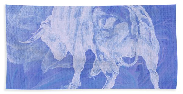 Purple Bull Negative Hand Towel