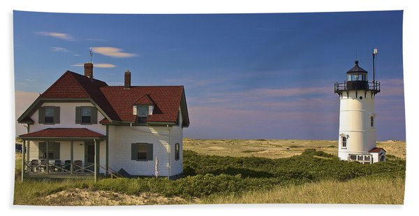 Race Point Lighthouse In Summer Hand Towel