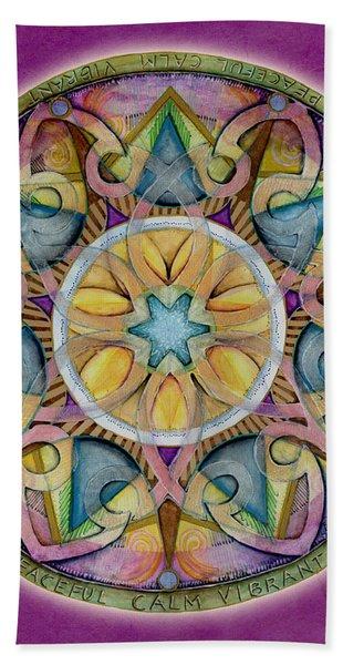 Radiant Health Mandala Hand Towel