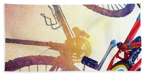 Red Bike Bath Towel