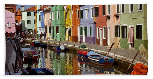 Reflections Of Burano Hand Towel