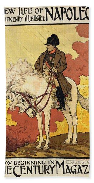 Vintage Poster Depicting Napoleon Hand Towel