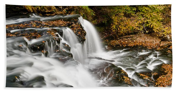 Ricketts Glen - On Top Of The Fall Bath Towel