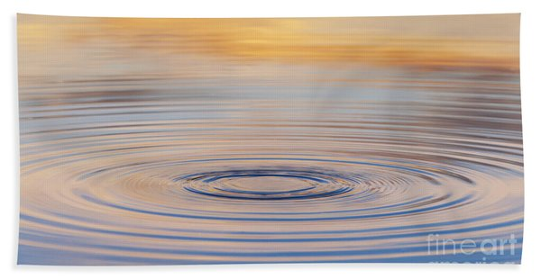 Ripples On A Still Pond Bath Towel