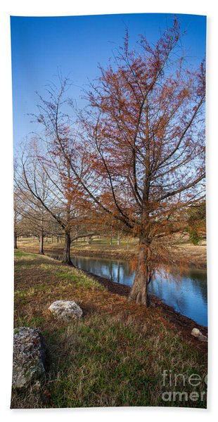River And Winter Trees Bath Towel