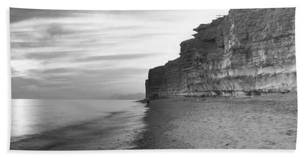 Rock Formations On The Beach, Burton Hand Towel