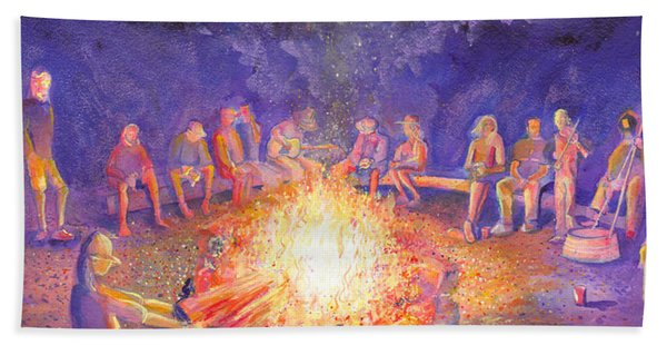 Roots Retreat Campfire Jam Hand Towel