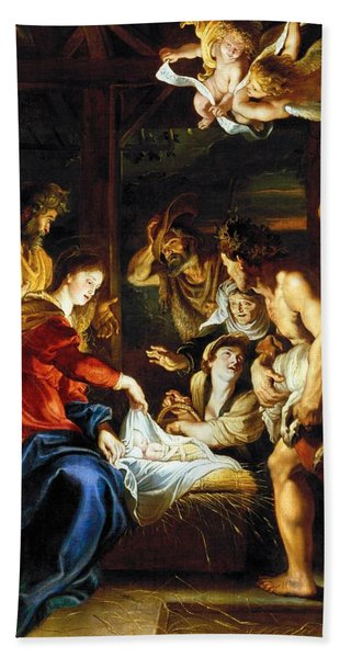Rubens Adoration Bath Towel