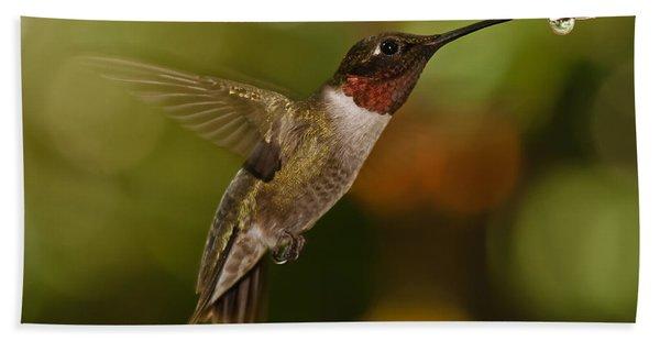Ruby-throat Hummingbird Hand Towel