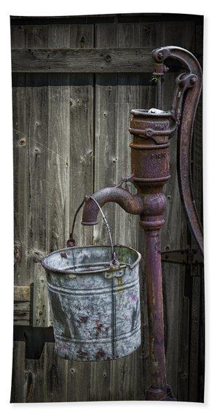 Rusty Hand Water Pump Hand Towel