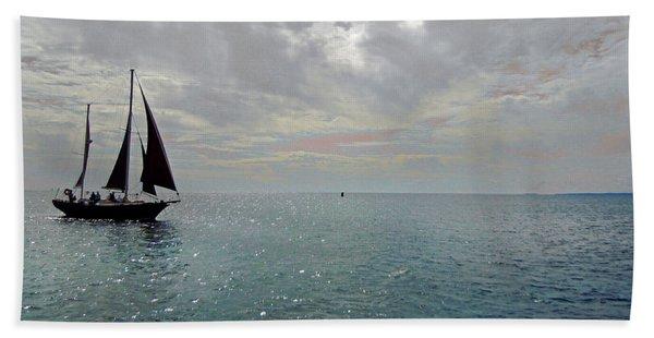 Sailboat At Sea  Hand Towel