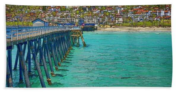 San Clemente Pier Bath Towel