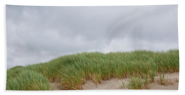 Sand Dunes And Grass Hand Towel