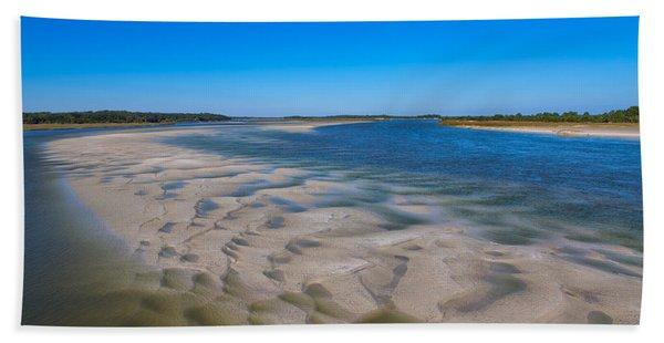 Sandbars On The Fort George River Hand Towel