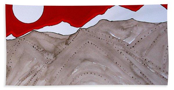Sangre De Cristo Peaks Original Painting Hand Towel