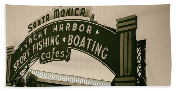 Santa Monica Pier Sign Bath Towel