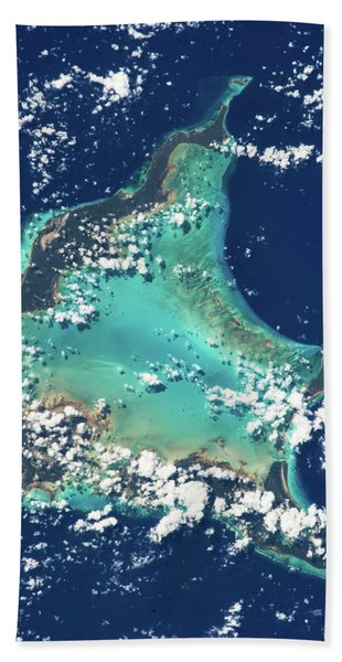 Satellite View Of Turks And Caicos Hand Towel
