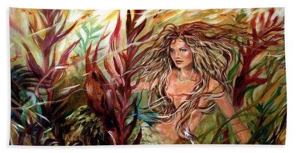 Seaweed Mermaid Hand Towel