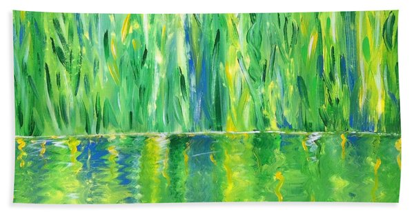 Serenity In Green Bath Towel
