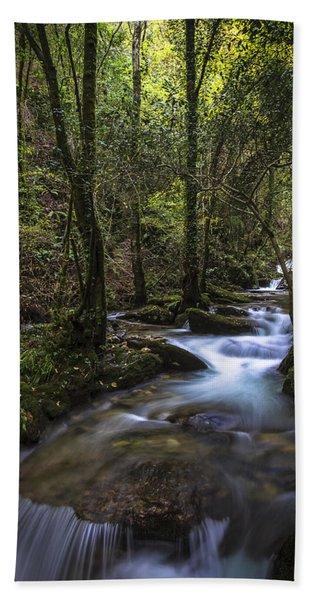 Sesin Stream Near Caaveiro Bath Towel
