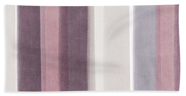 Shades Of Purple- Contemporary Abstract Painting Bath Towel
