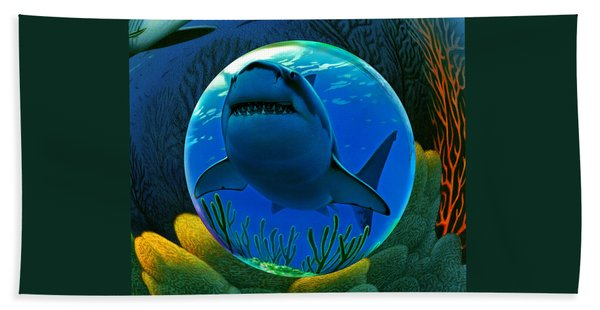 Shark World  Hand Towel