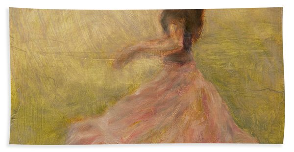 She Dances With The Rain Hand Towel