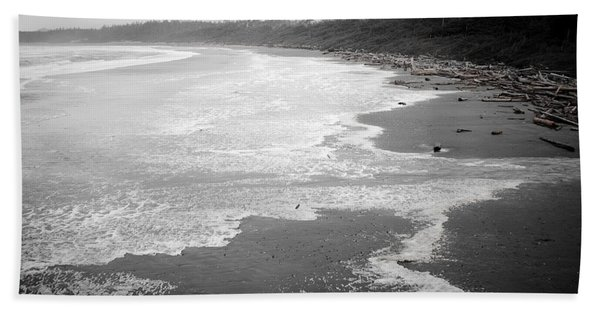 Winter At Wickaninnish Beach Hand Towel
