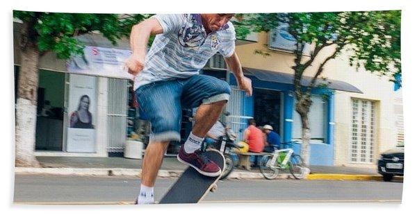 Skateboarding In Brazil Bath Towel