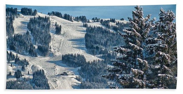 Ski Run Hand Towel