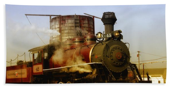Skunk Train Bath Towel