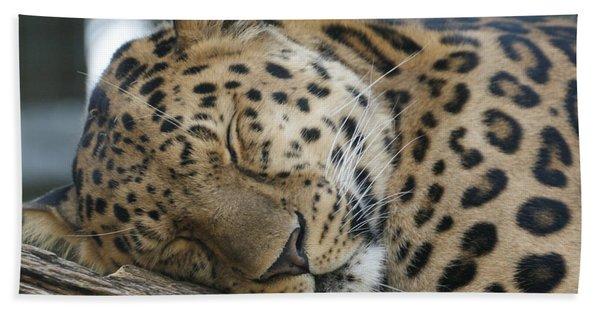 Sleeping Leopard Hand Towel