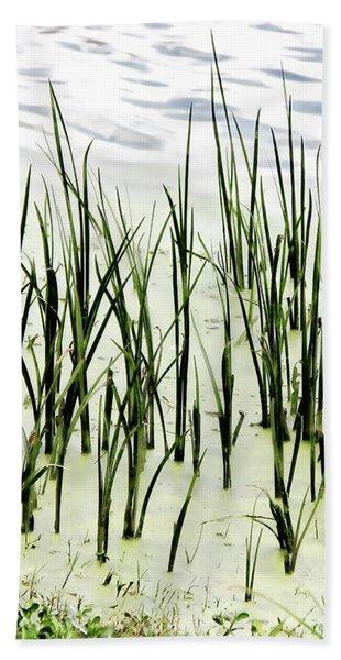 Slender Reeds Bath Towel