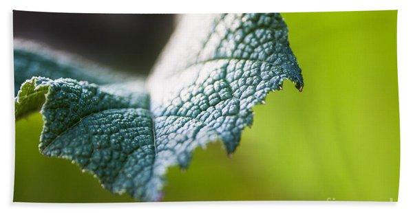 Slice Of Leaf Hand Towel