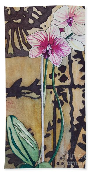 Small Orchids Bath Towel