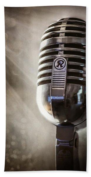 Smoky Vintage Microphone Bath Towel