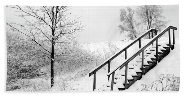 Snow Cover Stairs Bath Towel
