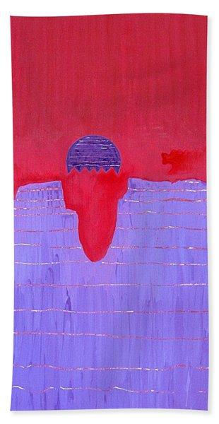 South Rim Sun Original Painting Bath Towel
