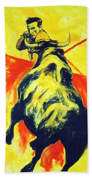 Spanish Bullfight Hand Towel