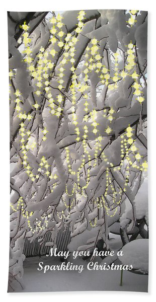 Sparkling Christmas Hand Towel